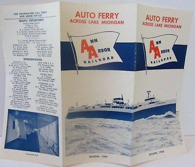 Ann Arbor Railroad 1960 Lake Michigan Ferry Brochure