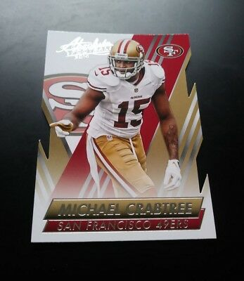 Michael Crabtree San Francisco 49ers Cut #10 Panini Absolute 2014 NFL Card