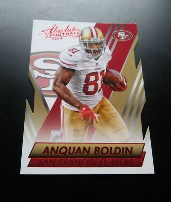 Anquan Boldin San Francisco 49ers Cut Red Card #7 Panini Absolute 2014 NFL