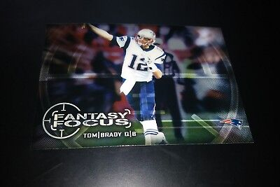 Tom Brady New England Patriots Fantasy Focus Foil 2014 NFL Football Card