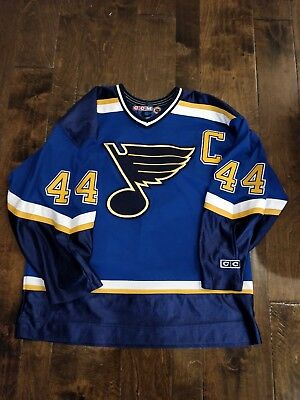 ... classic authentic throwback team jersey d6a11 59547  buy chris pronger  st. louis blues ccm throwback away nhl hockey sewn jersey large 4729d c853c25a7