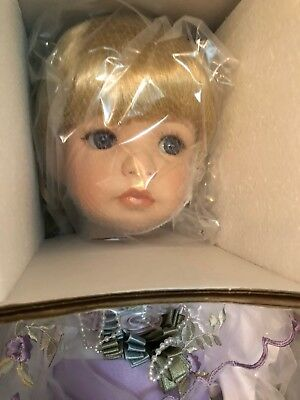"Marie Osmond Lovely In Lilac 28"" Doll Fan & Stand Ltd. Ed.  182/1500 Box COA New"