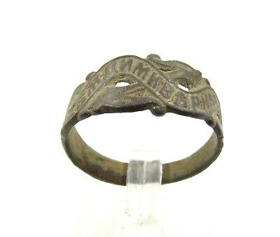 Authentic Post Medieval Soldiers Remembrance Ring - Wearable - H10