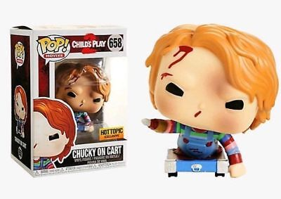 Funko Pop Movies #658 Chucky on Cart Child's Play 2 Hot Topic Exclusive In Hand