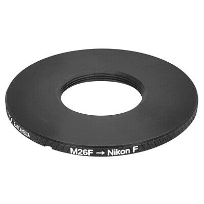M26x0.7 (36 tpi) female thread to Nikon F camera mount adapter
