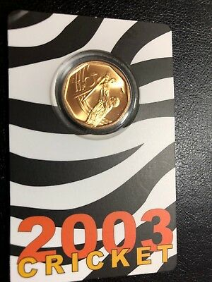 South African 2003 - Mint 50 cent coin -  ICC Cricket World Cup - Carded