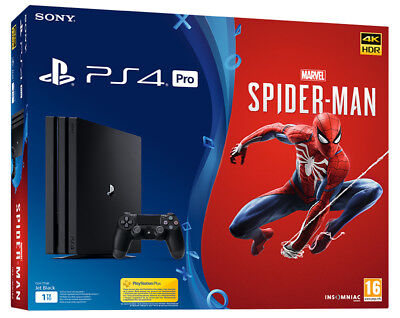 Playstation 4 PS4 PRO 1TB Console + Marvel's Spider-Man Bundle
