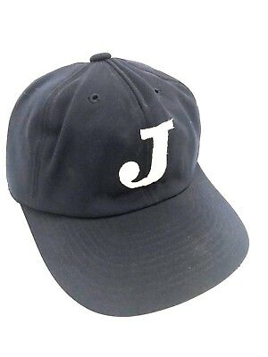 85332850ea1f Vintage Mizuno Rare Baseball Cap Hat Navy Blue Letter J Embroidered Small  54-55