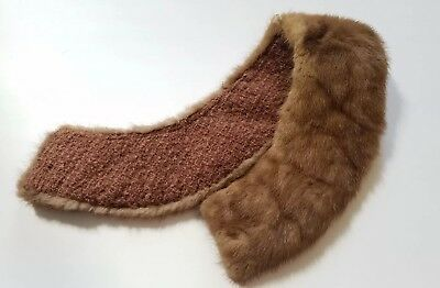 Vintage Antique Retro Chic Real Fur Collar 1940s 1950s Brown Sale Craft