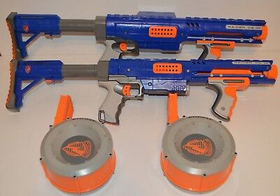 Nerf Bundle 2 x N-Strike Raider CS-35 Rapid Fire Blaster Guns Including Drums