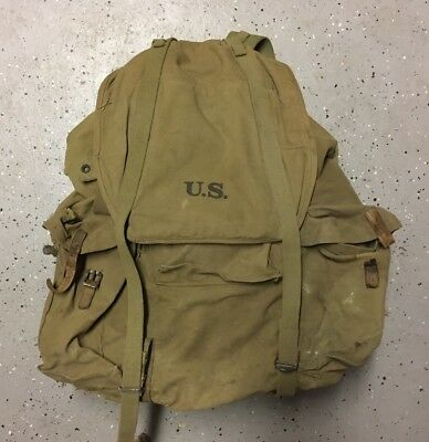 1942 WWII US ARMY Mountain Division Frame Rucksack Baker-Lockwood MFG. Co. 1942