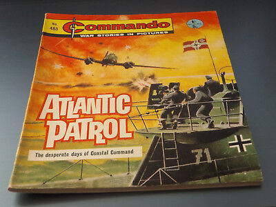 Commando War Comic Number 485 !!,1970 Issue,very Good For Age,48 Years Old,rare.