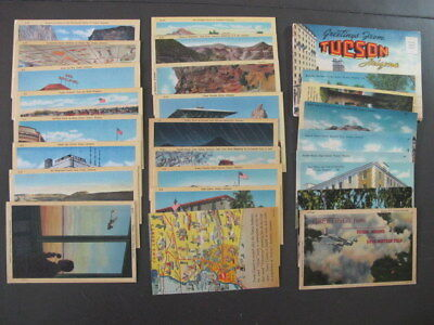 Lot of 25 Arizona Linen Postcards and Greetings from Tuscon Souvenir Folder