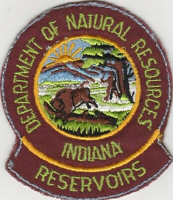 "Department of Natural Resources Indiana Reservoirs 4"" x 3.5"" Patch New Old Stock"