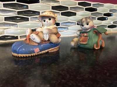 Collection Of 2 Calico Kittens/ kitten in a shoe/ kitten in a bag.