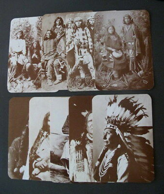 Lot of 9 Old West Collectors Series Postcards -Scouts, Chiefs