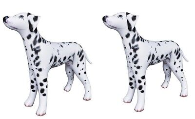 """2 Jet Creations Inflatable Dalmatian Dog Animal 30""""Tall Home Garden Party Decor"""
