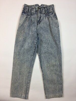 Vintage Filippo-Totti 80's Women's Jeans 7/8 Acid Wash High Rise Waist Mom BB32