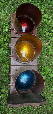 LOCAL PICKUP ONLY Will NOT Ship Vtg Lg Econolite Traffic Signal Man Cave Garage