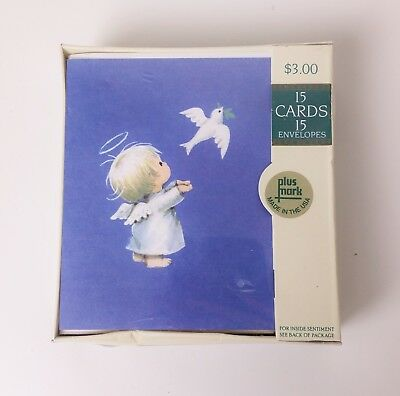 Vintage 1990's Child Angel with Peace Dove Christmas Cards In Box SEALED Unused