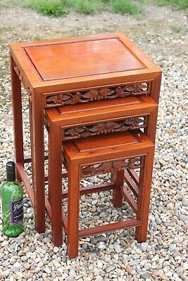 Antique Style Chinese Nest Of Tables,Chinese Wine Tables,Chinese Side Tables