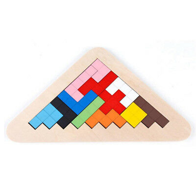 Tetris Game Jigsaw Puzzle Intellectual Children Educational Wooden Toy LH