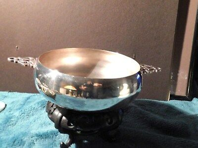 """Vintage Silver Plate SHEFFIELD SILVER CO USA TWO HANDLE PORRENGER 6"""" DIA X 8 1/2"""
