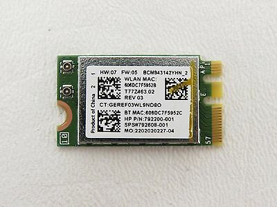 HP 15-AB Genuine Laptop Wireless WiFi Card 792608-001 Tested