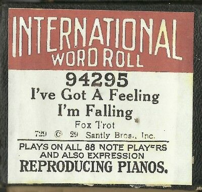 I've Got a Feeling I'm Falling (Waller) International 94295 Piano Roll Original