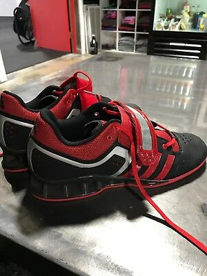 d843b50b732b40 ADIDAS ADIPOWER WEIGHTLIFTING shoes Size 10 black red -  76.00 ...