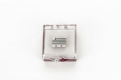 Vintage US Airways Service Pin/Tie Tack  w/ 2 Ruby Chips - 1/10 10k