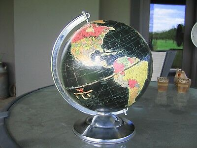 Vintage Replogle Globemaster 12 Inch Globe With Raised Relief. See The World!