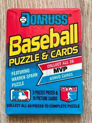 1989 Donruss MLB Baseball Puzzle & Cards Pack Booster OVP