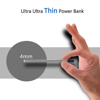 Super Slim Power Bank Card Power Emergency Battery Charger for iPhone Samsung
