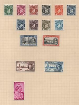 NIGERIA: George VI Examples - Ex-Old Time Collection - Album Page (19245)