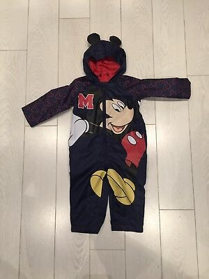 Boys Mickey Mouse Puddle Suit Age 12-18 Months