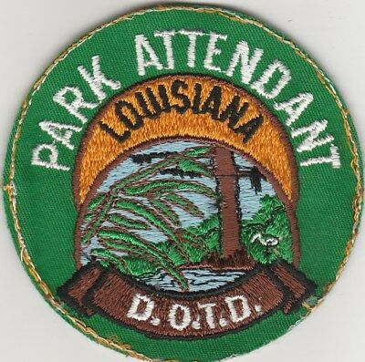 "Park Attendant Louisiana D.O.T.D. 3.5"" Patch New Old Stock Conservation Officer"
