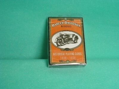 (#1009)  1997 Harley Davidson Historical Playing Cards 1930 - 1950 Sealed