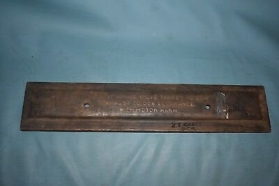 1928 Chrysler Engine Side Valve Cover Panel Series 52 4 cylinder
