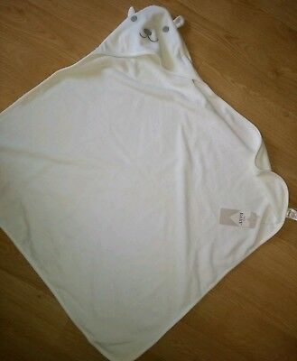 BNWT Hooded Baby Towel Bear From M&S Unisex Bath Soft Cotton