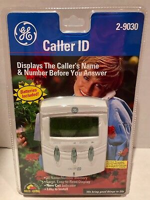 GE Caller ID model 2-9030 Reveals caller names Peace of mind Security
