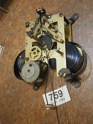 31 Day Wall Clock MOVEMENT sound condtion parts spares etc.
