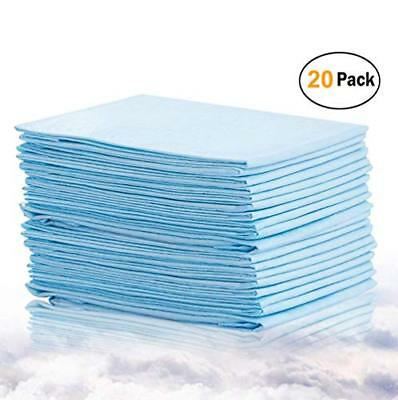 Bocks Baby Disposable Changing Pads, 20 Pack Incontinence Bed Pad, Pet Traini...