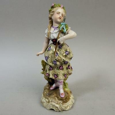 Antique Rudolstadt Volkstedt German Porcelain Figure C.1880