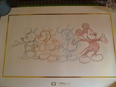 Disney Channel Mickey Mouse Print from 1928 to 1989
