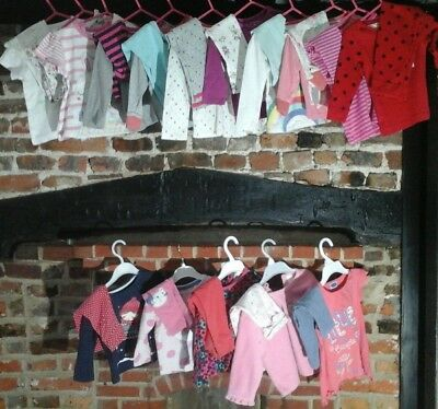 Baby girl clothes bundle 9-12 months,  mix & match top, bottoms & sets