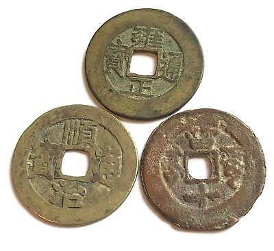 Lot of 3 Mixed China Ancient Bronze Coins