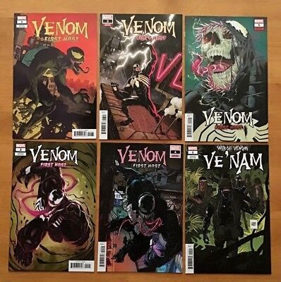 Venom First Host Issues 1,2,3,4,5 Cover B 1st Tel-Kar + Ve'Nam #1 Marvel 2018 NM
