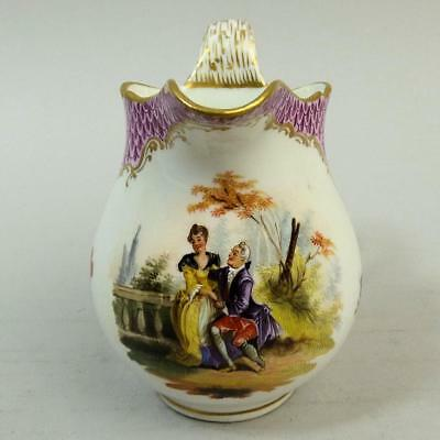 Antique Vienna Hand Painted Porcelain Cream Jug C.1880