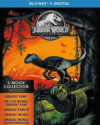 Jurassic World 5-Movie Collection (Blu-ray+Digital) NEW NO SLIP FREE shipping